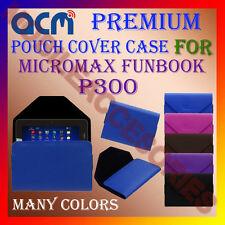 ACM-PREMIUM POUCH LEATHER CARRY CASE for MICROMAX FUNBOOK P300 TAB TABLET COVER