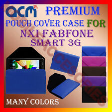 ACM-PREMIUM POUCH LEATHER CARRY CASE for NXI FABFONE SMART 3G TABLET TAB COVER