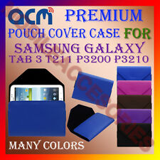 ACM-PREMIUM POUCH LEATHER CARRY CASE for SAMSUNG TAB 3 T211 P3200 P3210 COVER