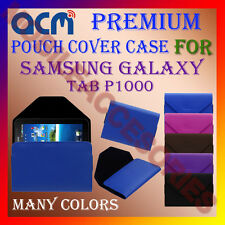 ACM-PREMIUM POUCH LEATHER CARRY CASE for SAMSUNG GALAXY TAB P1000 TABLET COVER