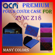 ACM-PREMIUM POUCH LEATHER CARRY CASE for ZYNC Z18 TABLET TAB COVER HOLDER LATEST