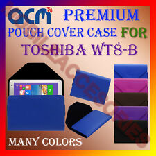 ACM-PREMIUM POUCH LEATHER CARRY CASE for TOSHIBA WT8-B TABLET TAB COVER HOLDER