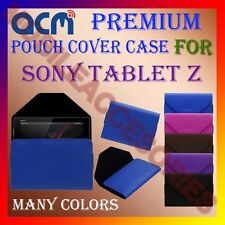ACM-PREMIUM POUCH LEATHER CARRY CASE for SONY TABLET Z TABLET TAB COVER HOLDER