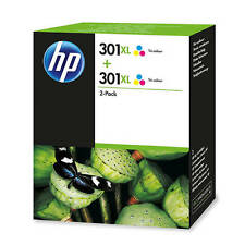 GENUINE HP COLOUR HP 301XL (D8J46AE) HIGH CAPACITY INK CARTRIDGE VALUE TWIN PACK