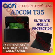 ACM-HORIZONTAL LEATHER CARRY CASE for ADCOM T35 MOBILE COVER HOLDER PROTECTION