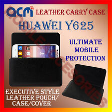 ACM-HORIZONTAL LEATHER CARRY CASE for HUAWEI Y625 MOBILE COVER HOLDER PROTECTION