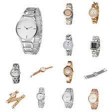Women Watch Luxury Rhinestone Quartz Bracelet Watches Stainless Steel Alloy
