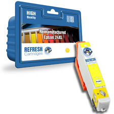 REMANUFACTURED (NON-GENUINE) 24XL YELLOW HIGH CAPACITY INK CARTRIDGE FOR EPSON