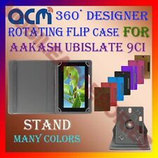 "ACM-DESIGNER ROTATING 360° 9"" COVER CASE STAND for AAKASH UBISLATE 9CI TABLET"