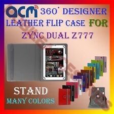 ACM-ROTATING 360° LEATHER FLIP STAND COVER CASE for ZYNC DUAL Z777 TAB TABLET