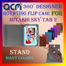 "ACM-DESIGNER ROTATING 360° 7"" COVER CASE STAND for MITASHI SKY TAB 2 TABLET TAB"