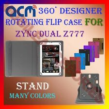 """ACM-DESIGNER ROTATING 360° 7"""" COVER CASE STAND for ZYNC DUAL Z777 TABLET TAB NEW"""