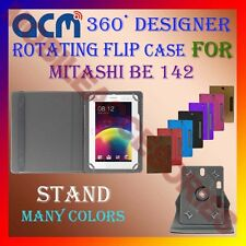 "ACM-DESIGNER ROTATING 360° 7"" COVER CASE STAND for MITASHI BE 142 TABLET TAB NEW"
