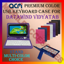 "ACM-USB COLOR KEYBOARD 7"" CASE for DATAWIND VIDYATAB TABLET COVER STAND PROTECT"