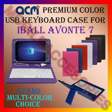 """ACM-USB COLOR KEYBOARD 7"""" CASE for IBALL AVONTE 7 TABLET TAB COVER STAND PROTECT"""