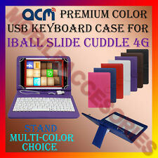 "ACM-USB COLOR KEYBOARD 7"" CASE for IBALL SLIDE CUDDLE 4G TABLET TAB COVER STAND"
