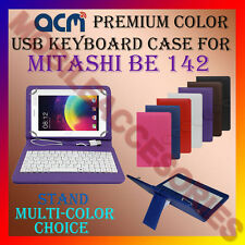 "ACM-USB COLOR KEYBOARD 7"" CASE for MITASHI BE 142 TABLET COVER STAND PROTECTION"