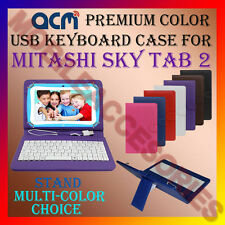 "ACM-USB COLOR KEYBOARD 7"" CASE for MITASHI SKY TAB 2 TABLET COVER STAND PROTECT"