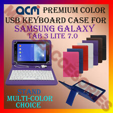 "ACM-USB COLOR KEYBOARD 7"" CASE for SAMSUNG TAB 3 LITE 7.0 TABLET COVER STAND NEW"