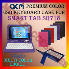 "ACM-USB COLOR KEYBOARD 7"" CASE for SMART TAB SQ718 TABLET TAB COVER STAND NEW"