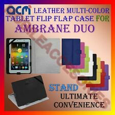 ACM-LEATHER FLIP MULTI-COLOR COVER CASE STAND for AMBRANE DUO TABLET TAB PROTECT