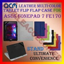 ACM-LEATHER FLIP MULTI-COLOR COVER CASE STAND for ASUS FONEPAD 7 FE170 TABLET