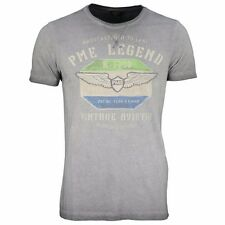 PME Legend Herren T-Shirt Rundhals hell grau Used Look PTSS62521 9960