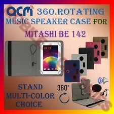 "ACM-PORTABLE MUSIC SPEAKER 360° ROTATING 7"" CASE for MITASHI BE 142 TABLET TAB"