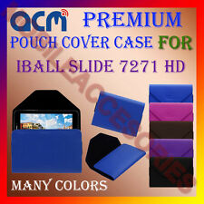 ACM-PREMIUM POUCH LEATHER CARRY CASE for IBALL SLIDE 7271 HD TABLET TAB COVER
