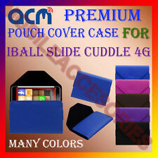 ACM-PREMIUM POUCH LEATHER CARRY CASE for IBALL SLIDE CUDDLE 4G TABLET TAB COVER
