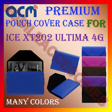 ACM-PREMIUM POUCH LEATHER CARRY CASE for ICE XT202 ULTIMA 4G TABLET TAB COVER