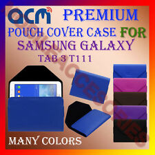 ACM-PREMIUM POUCH LEATHER CARRY CASE for SAMSUNG GALAXY TAB 3 T111 TABLET COVER
