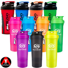 SLIM SmartShake Shaker Mixer Cup 500ml + Overload Nutrition Hand Grip  600ml