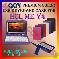 """ACM-USB COLOR KEYBOARD 8"""" CASE for HCL ME Y4 TABLET TAB LEATHER COVER STAND NEW"""