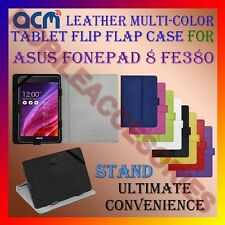 ACM-LEATHER FLIP MULTI- COLOR COVER CASE STAND for ASUS FONEPAD 8 FE380 TABLET
