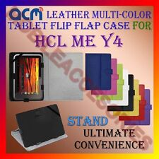 ACM-LEATHER FLIP MULTI- COLOR COVER CASE STAND for HCL ME Y4 TABLET TAB PROTECT
