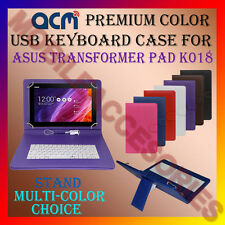 "ACM-USB COLOR KEYBOARD 10"" CASE of ASUS TRANSFORMER PAD K018 LEATHER COVER STAND"