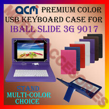 "ACM-USB COLOR KEYBOARD 10"" CASE for IBALL SLIDE 3G 9017 TAB LEATHER COVER STAND"