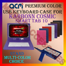 "ACM-USB COLOR KEYBOARD 10"" CASE for KARBONN COSMIC SMART TAB 10 COVER STAND NEW"