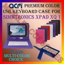"ACM-USB COLOR KEYBOARD 10"" CASE for SIMMTRONICS XPAD XQ 1 LEATHER COVER STAND"