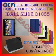 ACM-LEATHER FLIP MULTI-COLOR COVER CASE STAND for IBALL SLIDE Q1035 TABLET TAB