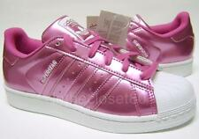 Adidas Superstar Shiny Metallic Pink White Womens Trainers BNWB Limited