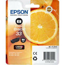 ORIGINAL EPSON (ORANGE) 33 SERIES PHOTO BLACK INK CARTRIDGE C13T33414010 / T3341