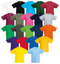 FRUIT OF THE LOOM KINDER T-SHIRT ORIGINAL TEE VERSCH. FARBEN 104-164 NEU