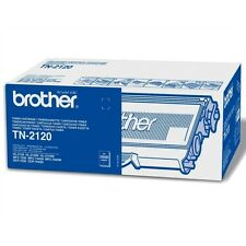 1 X BROTHER ORIGINALE OEM LASER NERO TONER CARTUCCIA TN2120 - 2600 PAGINE