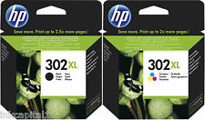 HP No 302XL Negro Y Color Multi Pack Original OEM Cartuchos De Inyección Tinta