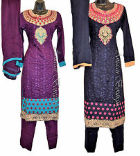 EID SHALWAR KAMEEZ SUIT PENCIL CIG TROUSER PAKISTANI INDIAN FASHION EMBROIDERY