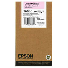 GENUINE EPSON T603C HIGH CAPACITY LIGHT MAGENTA INK CARTRIDGE (C13T603C00)