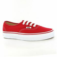 Vans Classic Authentic Red White Kids Trainers