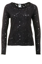 Vero Moda Damen Sweatshirt Langarmshirt Shirt Jumper Sweater Used Look WOW -70 %